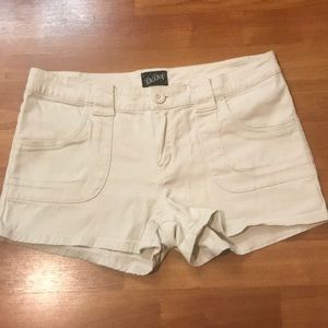 Tan shorts low rise